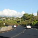On the highway towards Honolulu